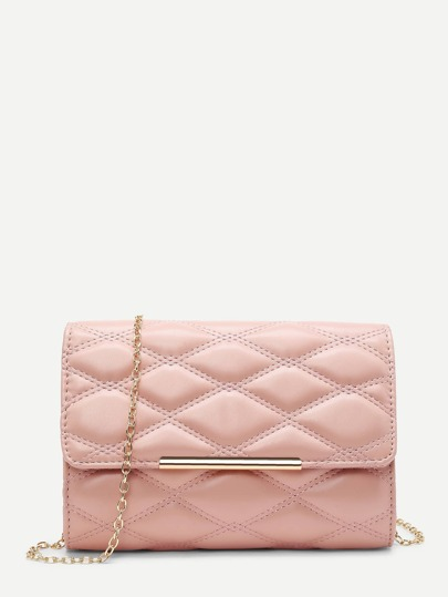 Quilted Flap Clutch Bag