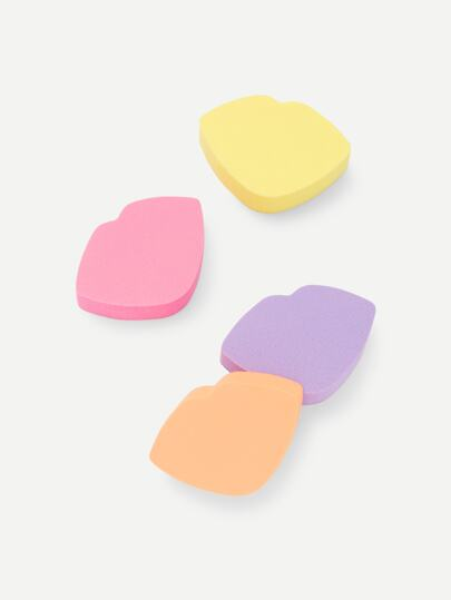 Lip Shaped Sponge Puff 4pcs
