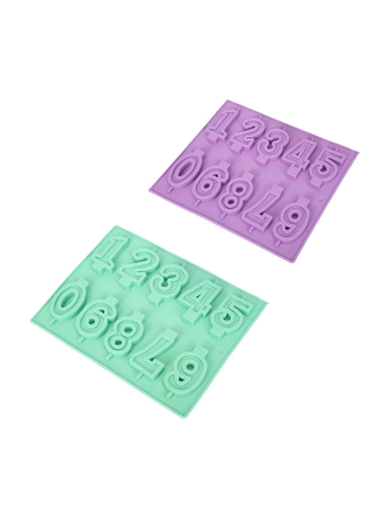 1Pc Random Color Numbers Shaped Baking Mould
