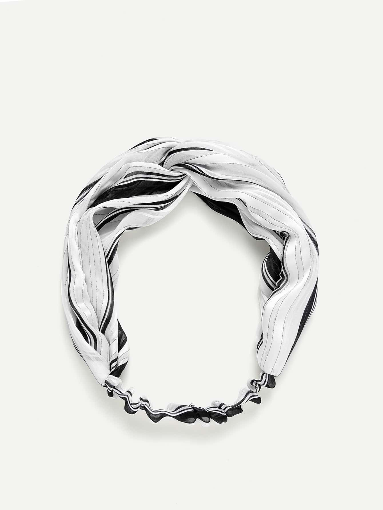 Twist Striped Turban Headband