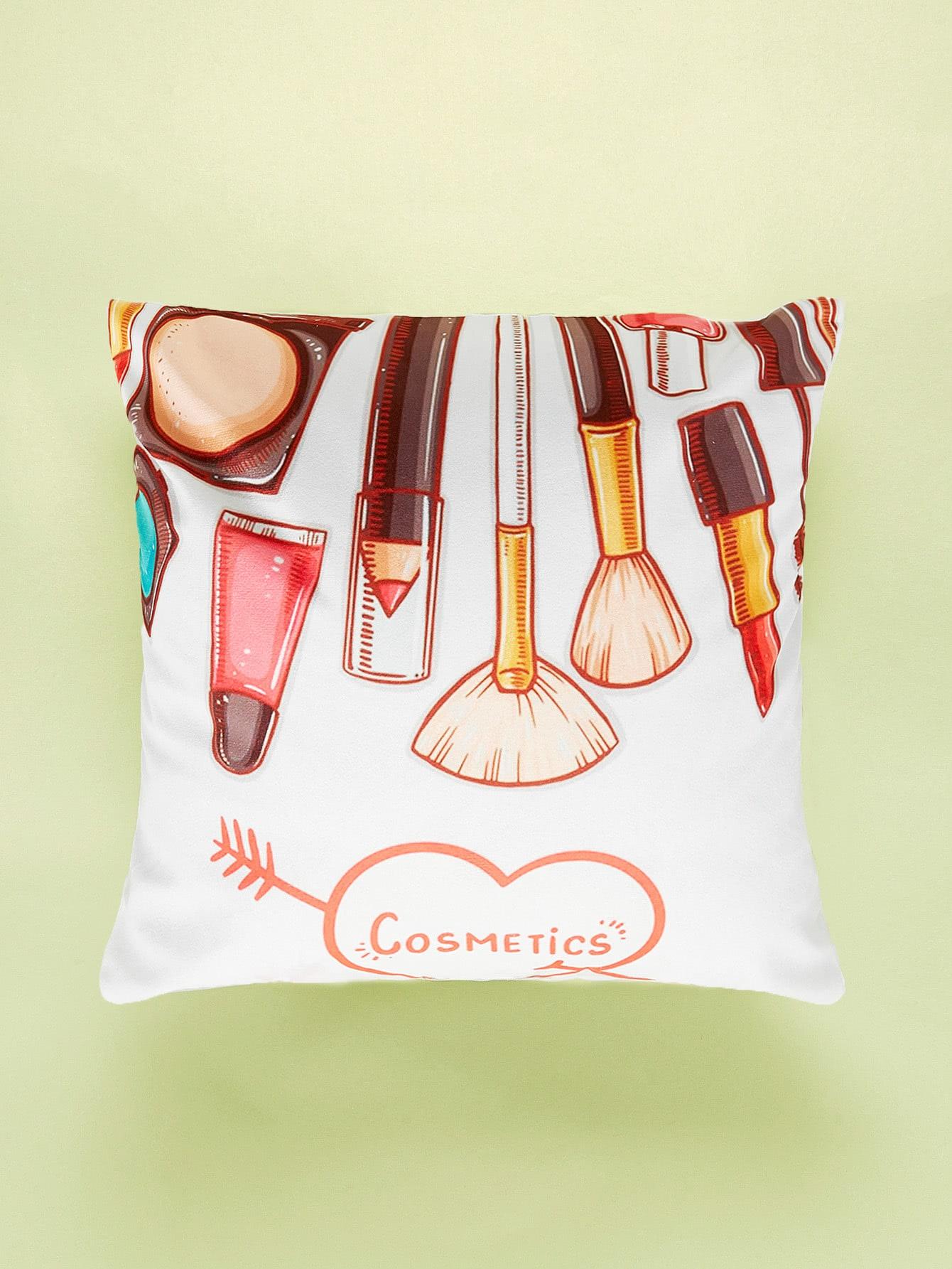 Makeup Tools Print Cushion Cover