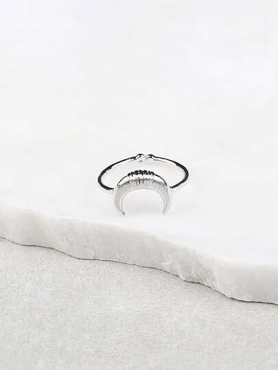 Moon Design Ring SILVER