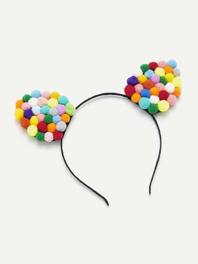 Pom Pom Cat Ear Headband