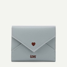 Heart & Letter Embroidered PU Purse (bag180125328) photo