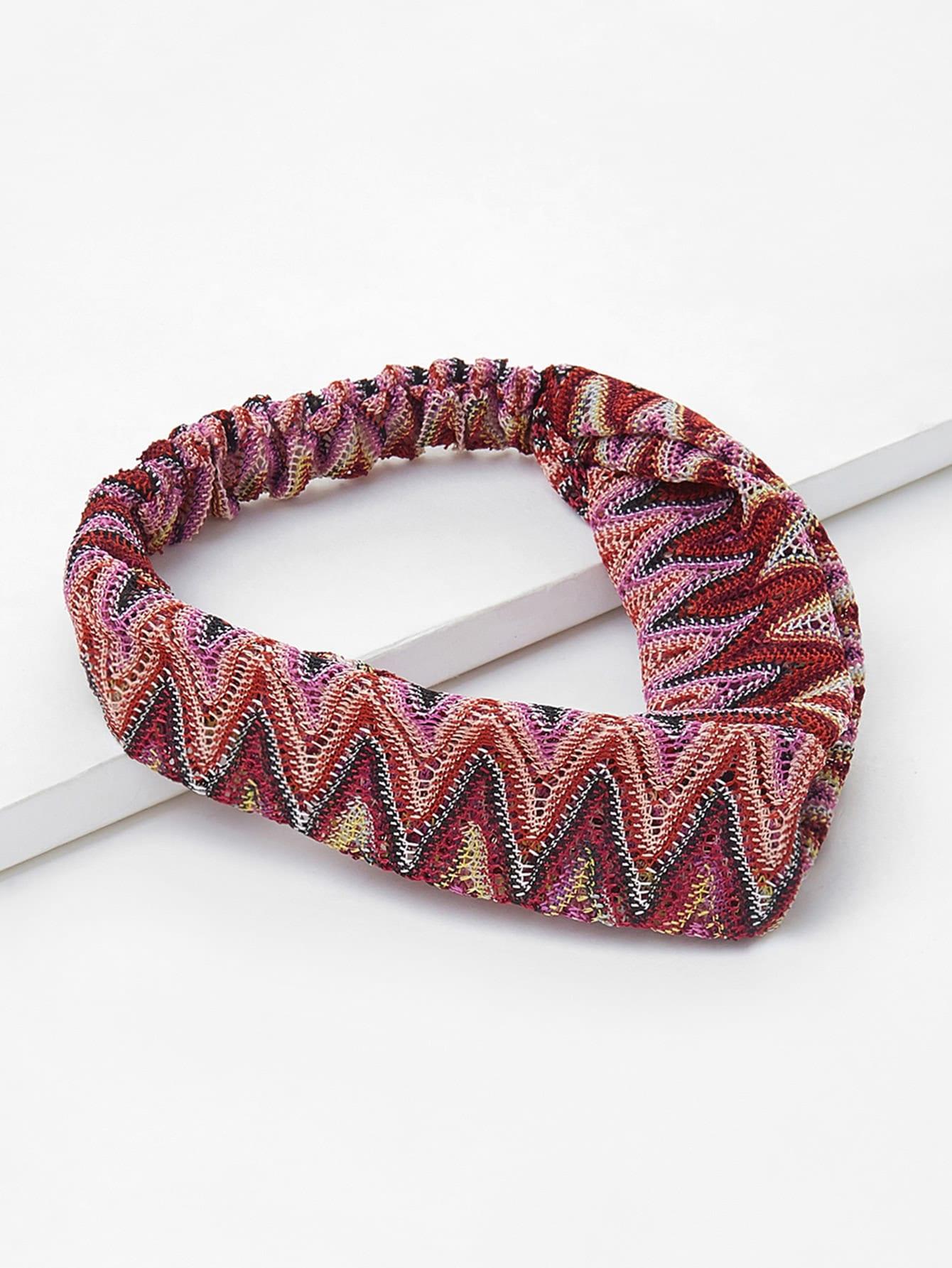 Colorful Pointelle Headband