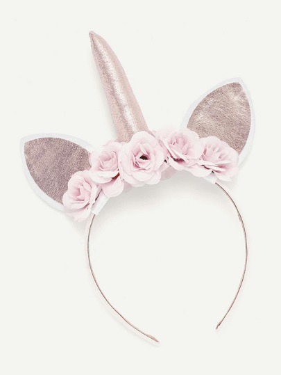 Floral Embellished Cat Ear Headband