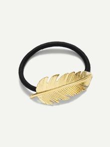 Leaf Decorated Hair Tie