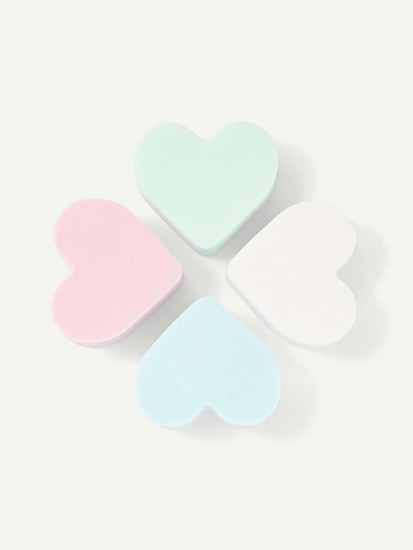 Heart Shaped Sponge Puff 4pcs термос laplaya traditional 35 50 light blue