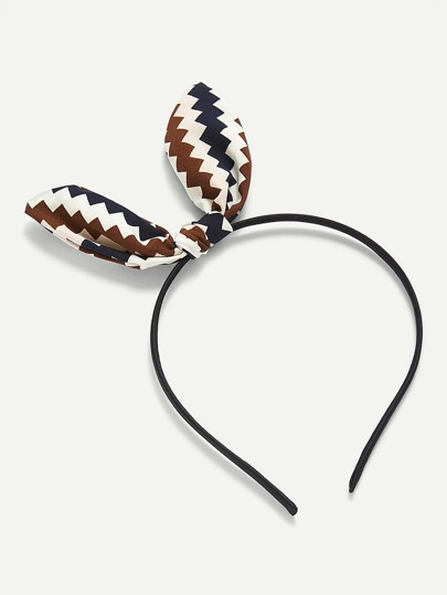 Chevron Bow Detail Headband