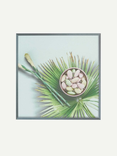 Snacks & Palm Leaf Print Wall Decal
