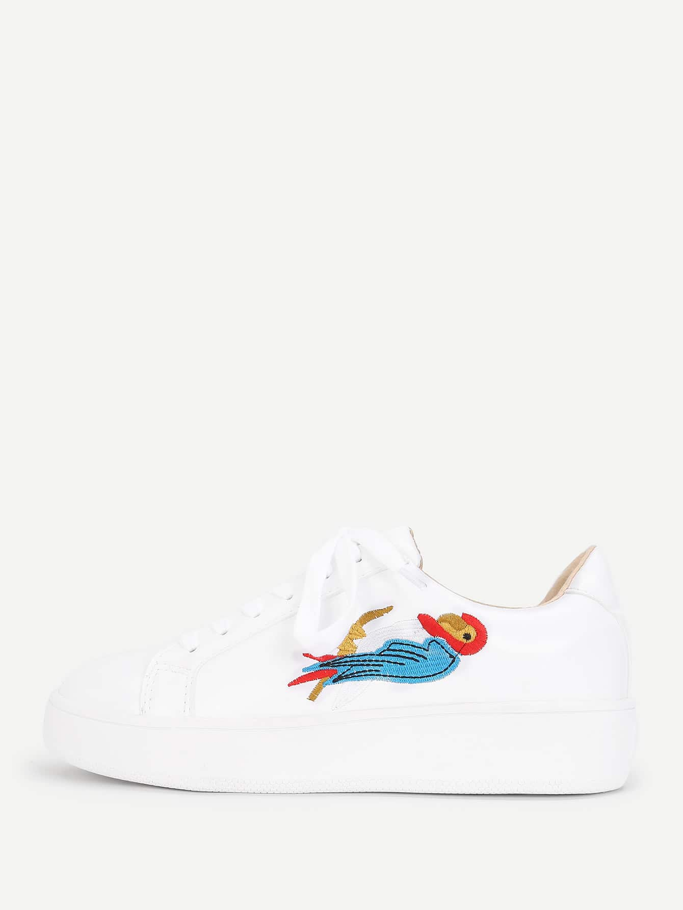 все цены на Bird Embroidery Lace Up Sneakers