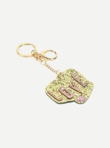 Sequin Letter Design Bag Accessories