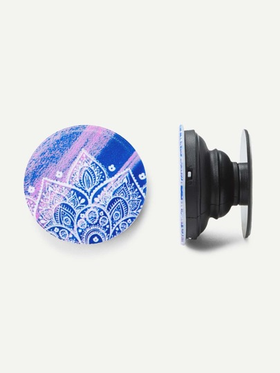Mandala Flower Round Durable Phone Holder