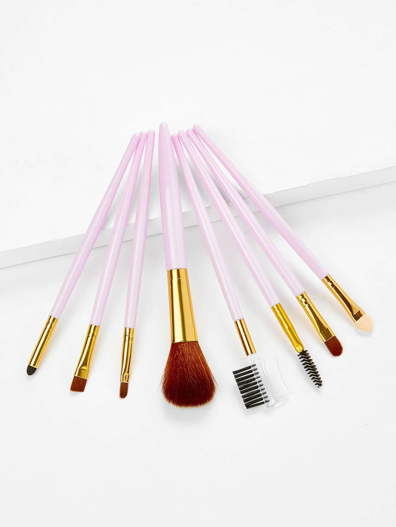 Two Tone Handle Makeup Brush Set 8Pcs two tone handle makeup brush 7pcs