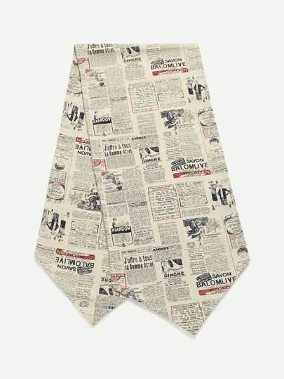 Newspaper Print Table Cover