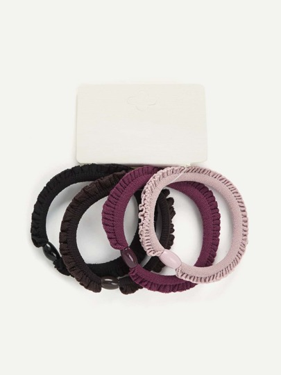 Mixed Hair Tie 4pcs