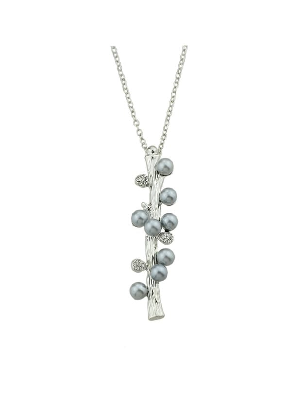 Фото Gray Simulated-Pearl Pendants Necklace