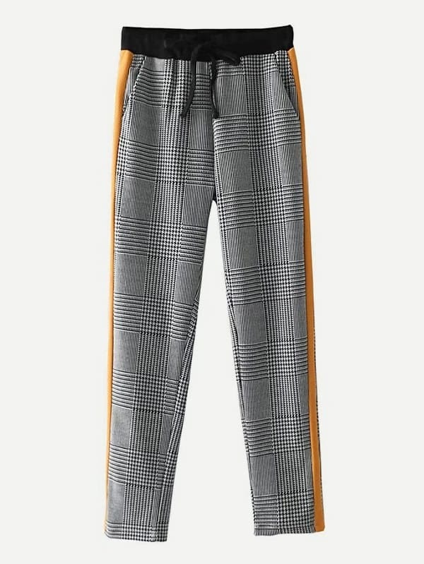 Glen Plaid Tapered Pants