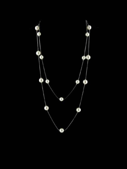Silver Pearl Necklace For Women
