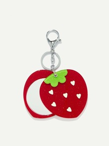 Strawberry Shaped Keychain