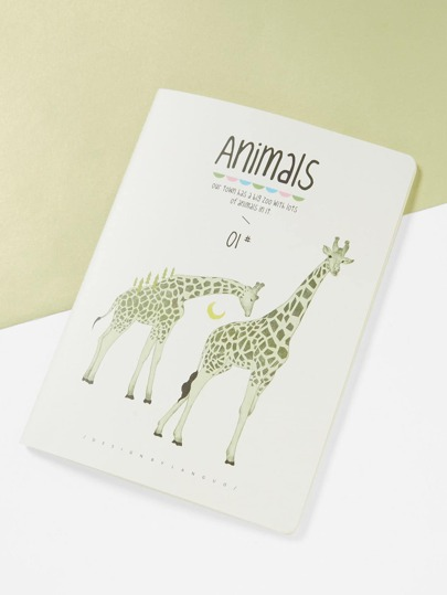 Giraffe Print Cover Notebook