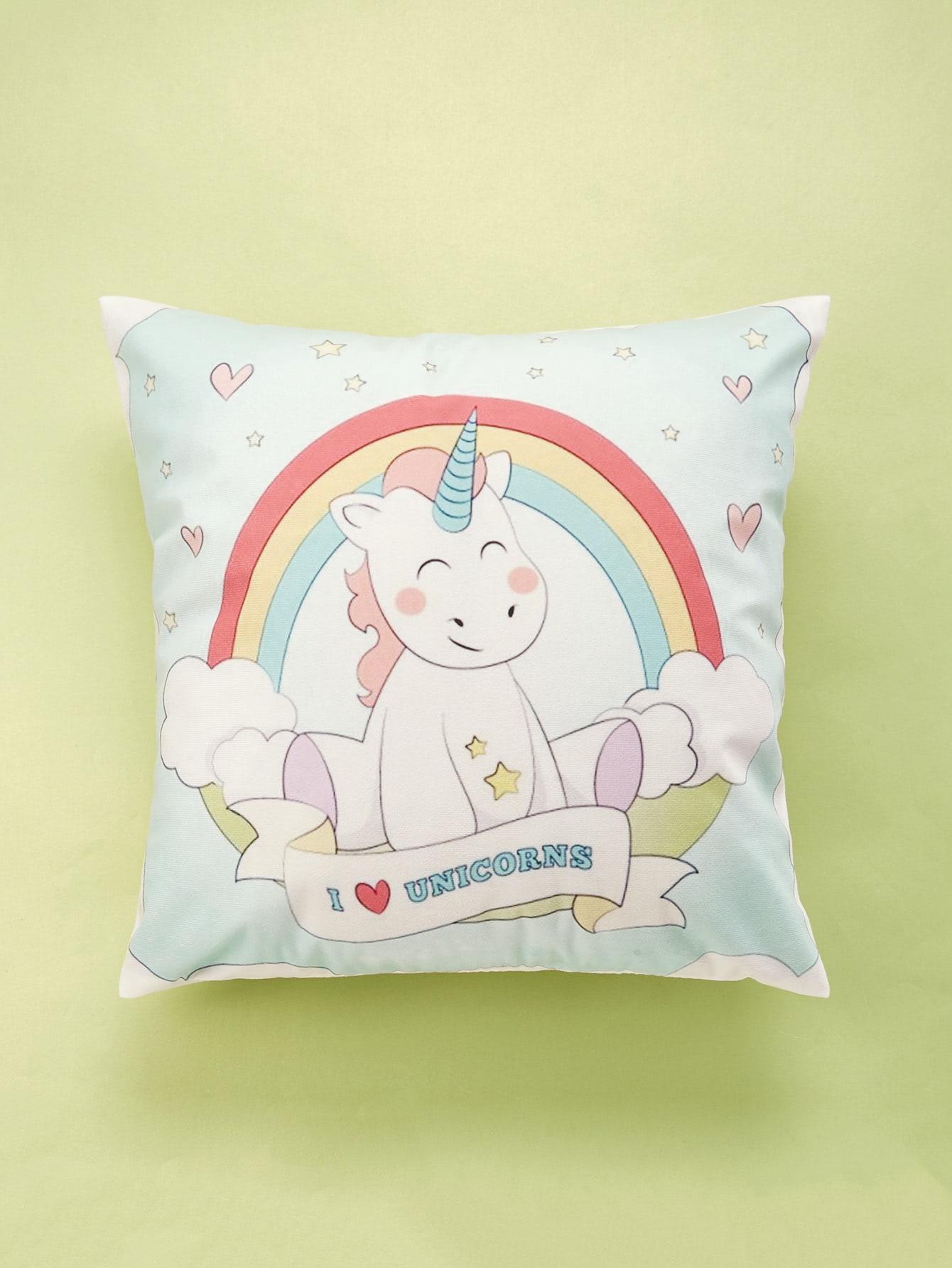 Cartoon Animal Print Cushion Cover