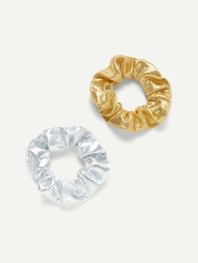 Metallic Hair Scrunchie 2pcs