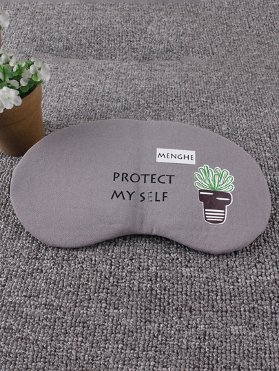 Cactus Print Sleeping Eye Mask