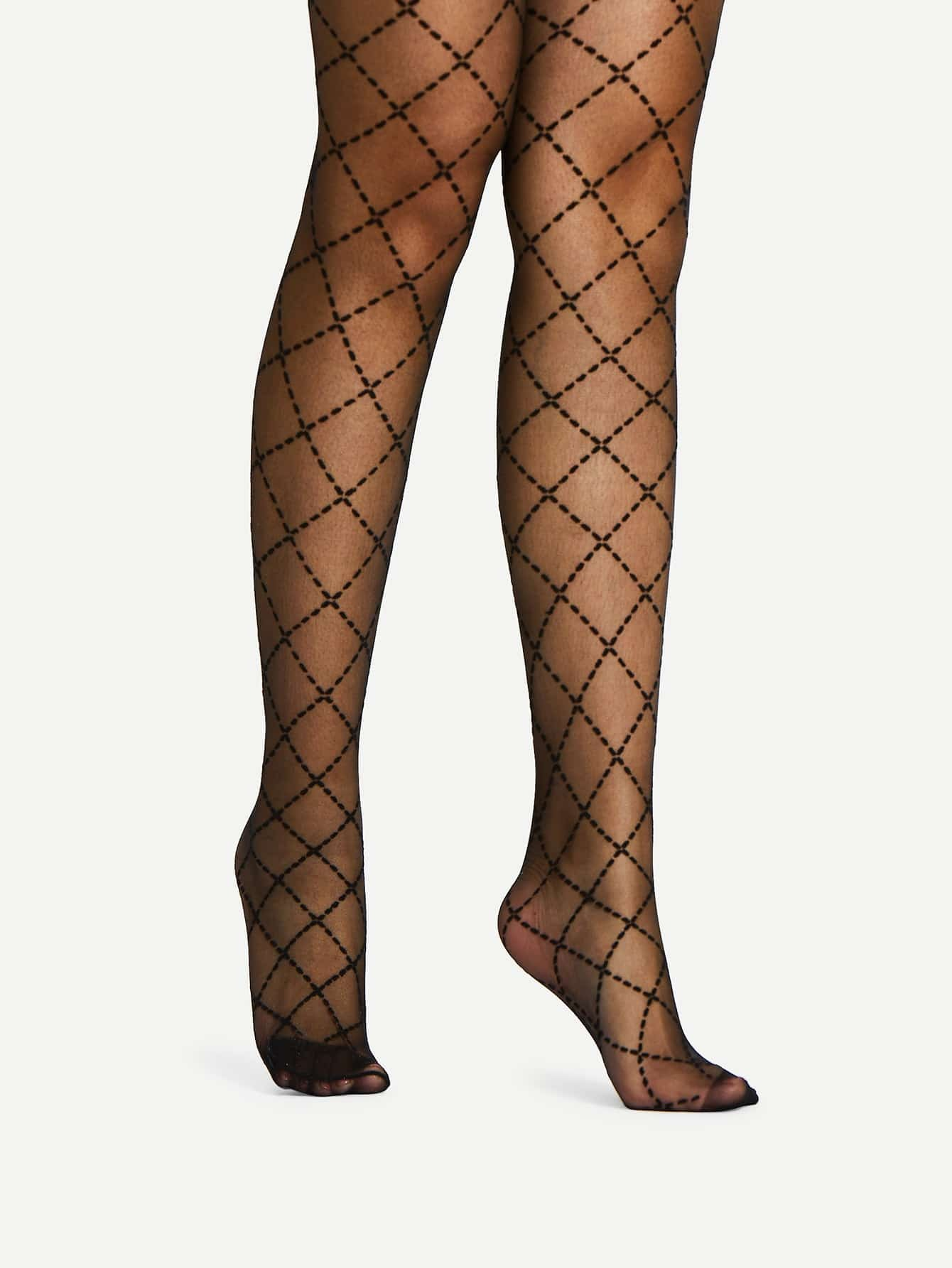 Quilted Design Pantyhose Stockings mesh design pantyhose stockings