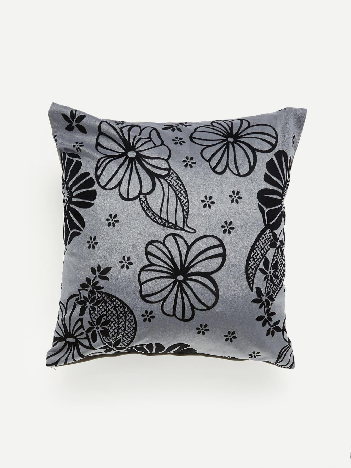 Flower Print Pillow Case