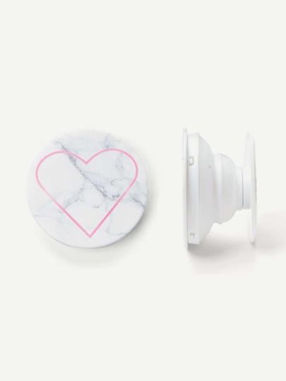 Heart & Marble Pattern Portable Phone Holder