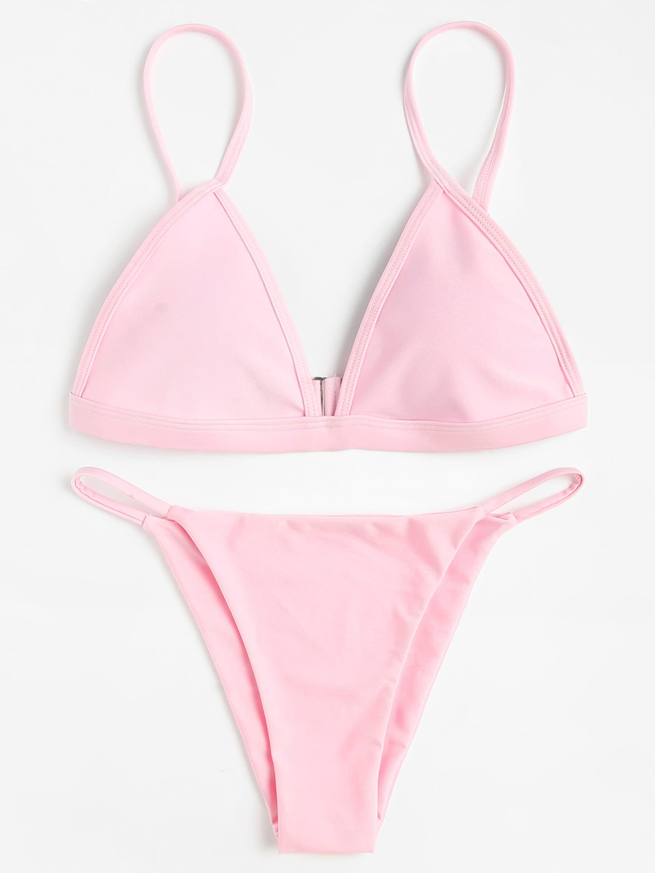 Фото Triangle Beach Bikini Set checker knot bikini set