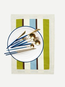 Stripe Contrast Dining Mat