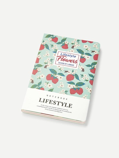 Strawberry Print Cover Notebook