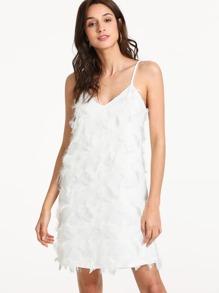 Fringe Embellished Slip Dress