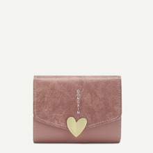 Metal Heart PU Purse (bag180125325) photo