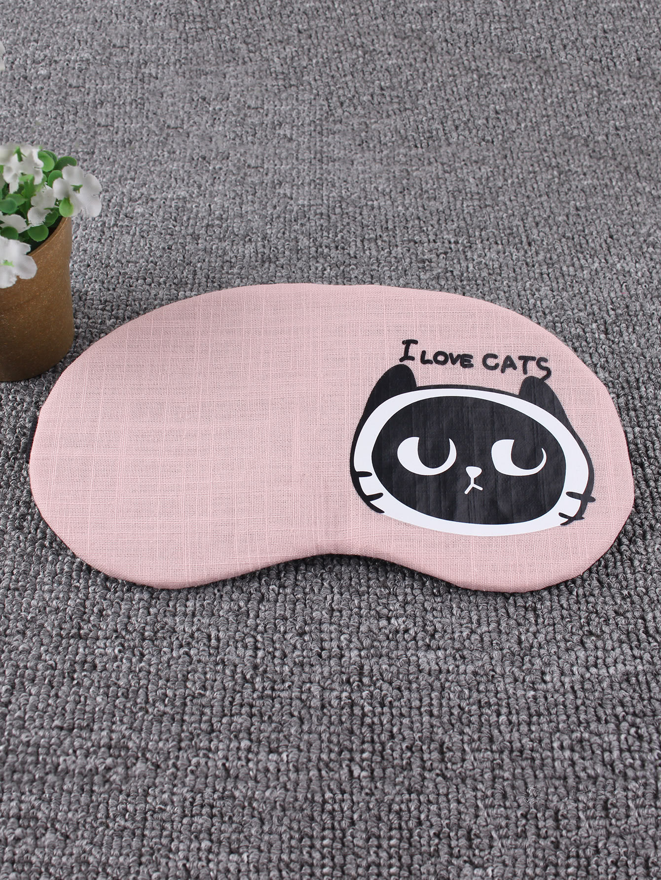 Cat Print Sleeping Eye Mask cat eye glasses tinize 2015 tr90 5832