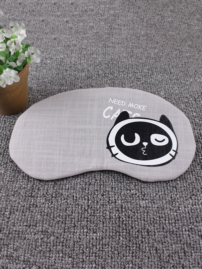 Cat Print Sleeping Eye Mask