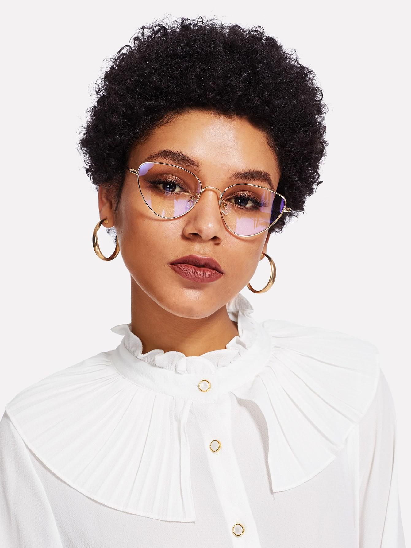 Cat Eye Metal Frame Glasses