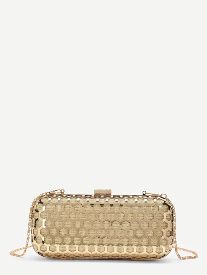 Metallic Chain Crossbody Bag