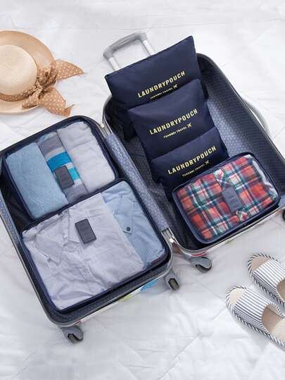 6 Pcs Travel Bags Set Multifunctional Storage Bag