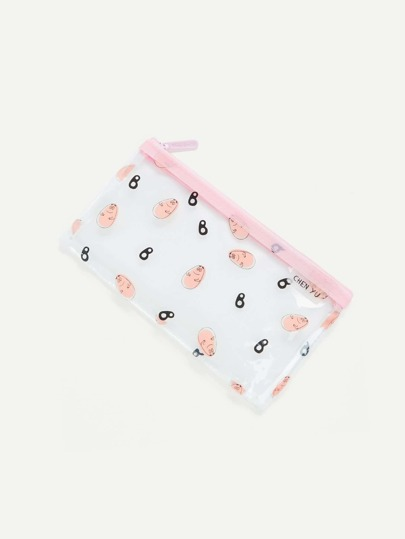Cartoon Print File Bag