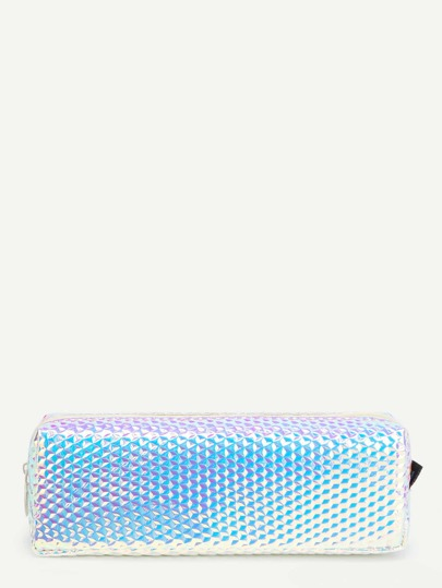 Holographic Textured Pencil Case