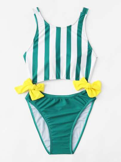 Striped Knot Swimsuit