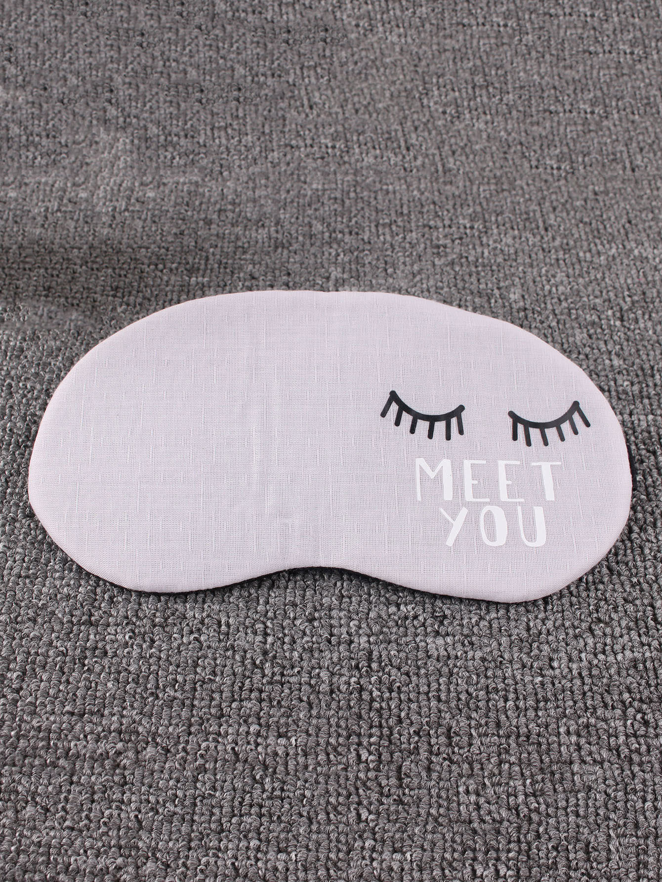 Eyelashes Print Rest Aid Cover Eye Mask 1Pc