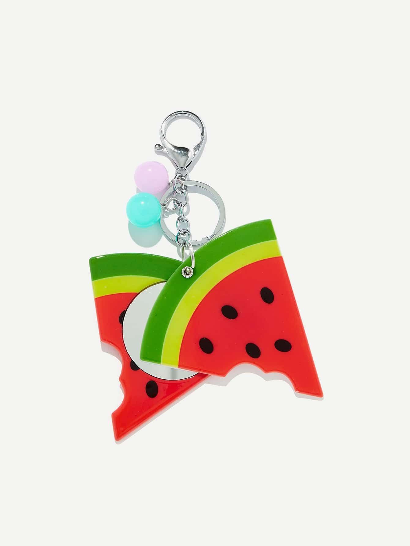 Random Color Ball Watermelon Shaped Keychain