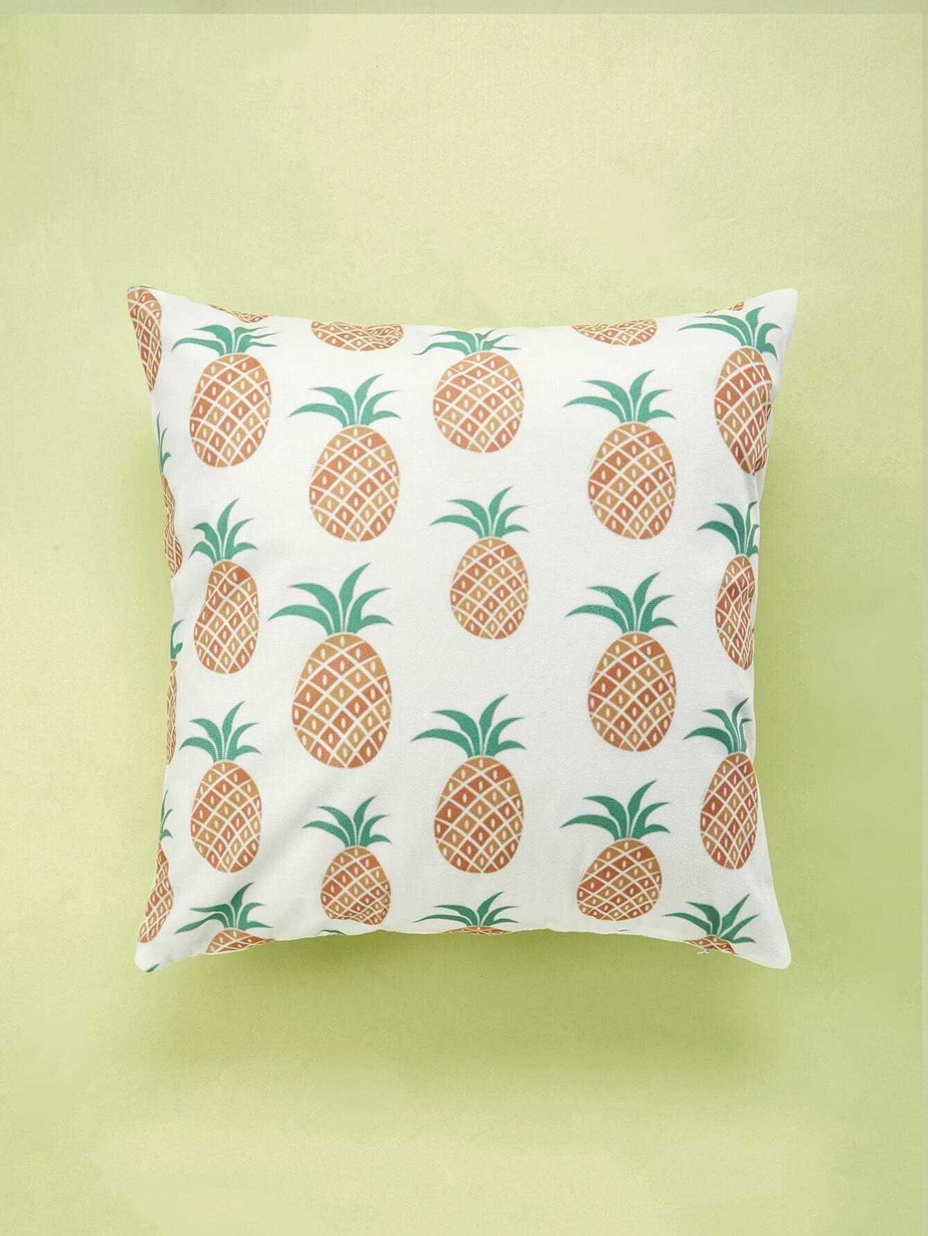 Pineapple Overlay Print Cushion Cover