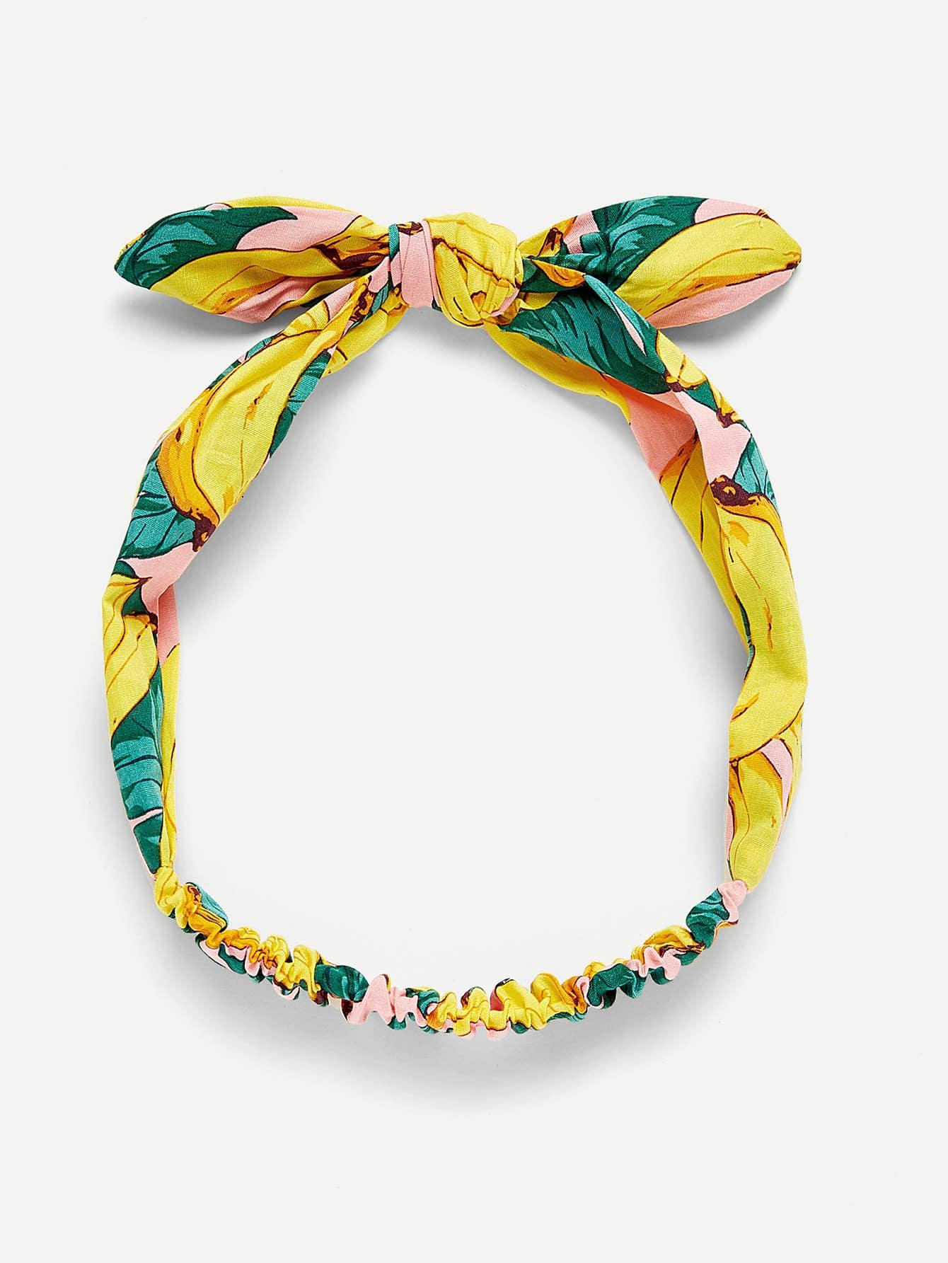 Banana Print Bow Knot Headband средство экофрэнд универсальный очиститель поверхности