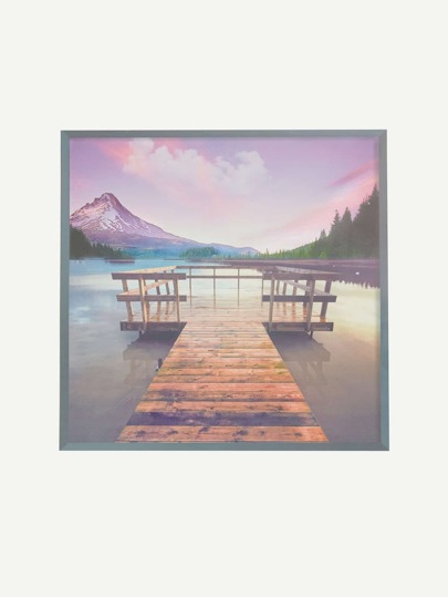 Mountain Landscape Print Wall Decal
