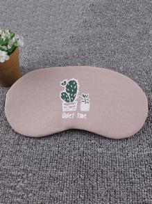 Cactus & Slogan Print Sleeping Eye Mask